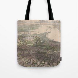 Vintage Pictorial Map of Washington DC (1865) Tote Bag