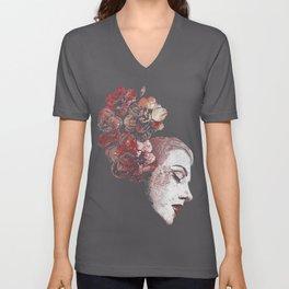 Obey Me: Blood (graffiti flower woman profile) Unisex V-Neck