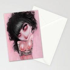 Pink Bleak Pain Stationery Cards