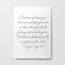 Song Of Songs Metal Print
