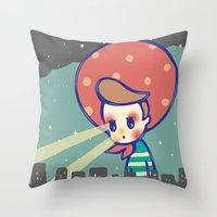 games Throw Pillows featuring Girl games by littlestar cindy