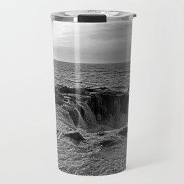 Thor's Well in B/W Travel Mug