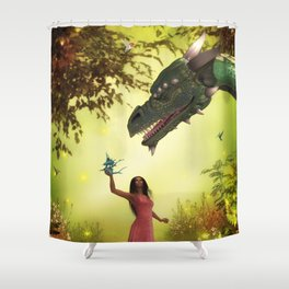 Land of Dragons Shower Curtain