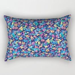 Colorful ditsy flowers Rectangular Pillow