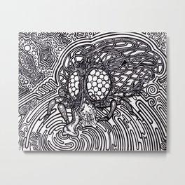 Eatting Fly Metal Print