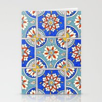 italian Stationery Cards featuring Italian Tiles by PeriwinklePeacoat