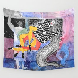Stranger Collision  Wall Tapestry