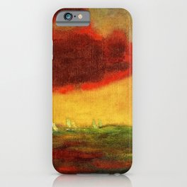 Sailing Yachts on the High Seas at Sunset nautical landscape by Emil Nolde iPhone Case
