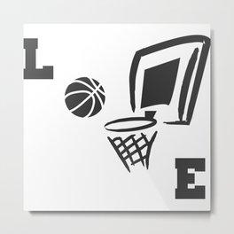Love Basketball Illustration Metal Print