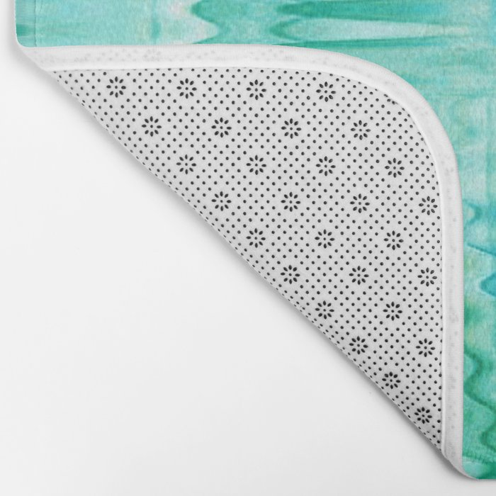 Water Ripples Abstract Bath Mat