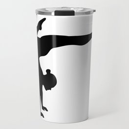 B&W Contortionist Travel Mug