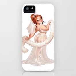 Helena Handbasket sexy bride iPhone Case