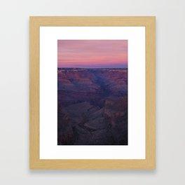 Grand Canyon Red Sunrise Framed Art Print