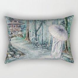 Silence (Watercolor painting) Rectangular Pillow