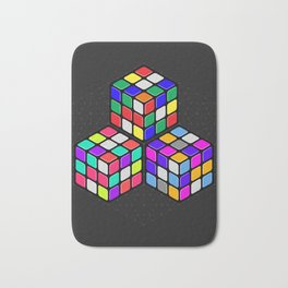 Graphic 947 // Rubik's Cube Isometric Illustration Bath Mat