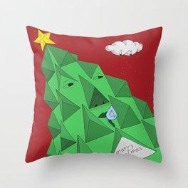 christmas pine Throw Pillow