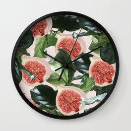 Figs & Leaves #society6 #decor #buyart Wall Clock