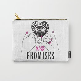 All Seeing Eye No Promises Trend Print Carry-All Pouch