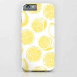 Hand drawn lemon pattern iPhone Case