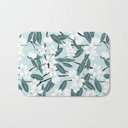 Sakura Branch Pattern - Pine and Mint Bath Mat
