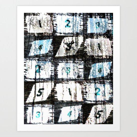 Numbers Art Print