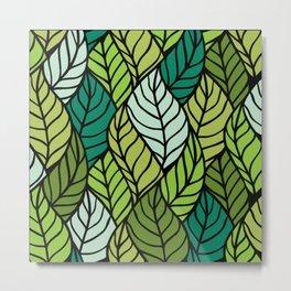 Flowing Leaves Metal Print