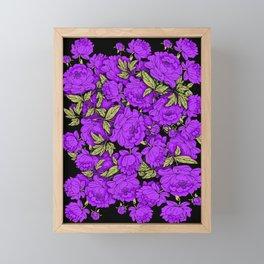 Purple Peonies Framed Mini Art Print