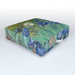 Irises by Vincent Van Gogh, 1889 Outdoor Floor Cushion