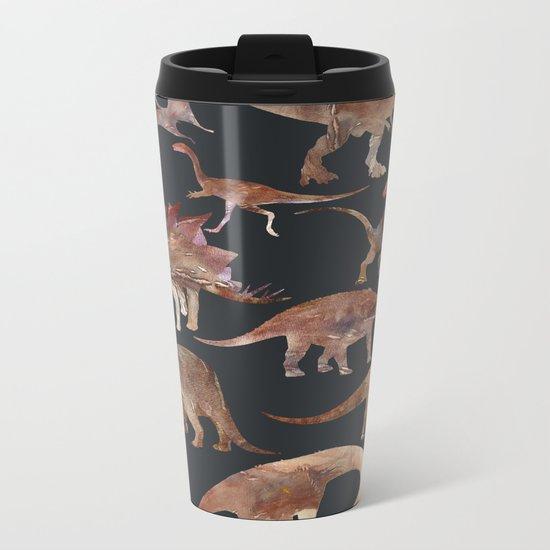 Dinosaur Pattern Metal Travel Mug