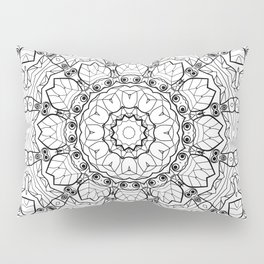"""Black and white pattern . """"Lola"""" Notepad-cover-coloring . Pillow Sham"""