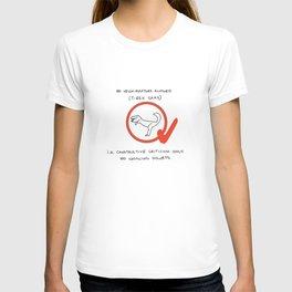 No Velociraptors Allowed (T-Rex Okay) T-shirt