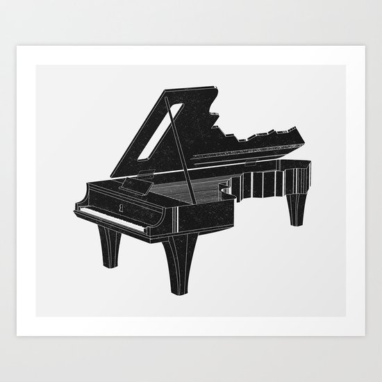 Music Is The Key B Art Print
