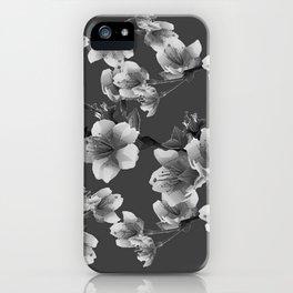 CHARCOAL GREY GARDEN  FRUIT TREES FLOWERS iPhone Case