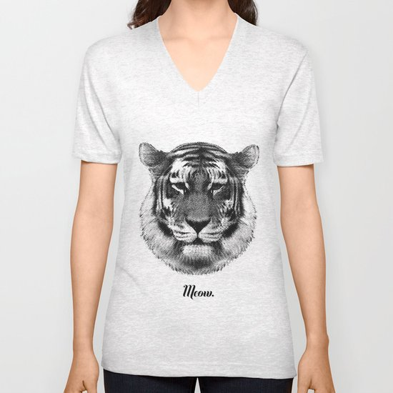 TIGER SAYS MEOW Unisex V-Neck