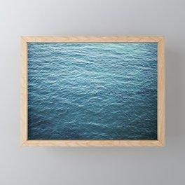 "Travel photography ""Blue ocean waves"" | Fine art Photo Print | Modern Wall art | Wanderlust Ibiza Framed Mini Art Print"