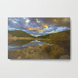 Echo Lake Sunset Metal Print