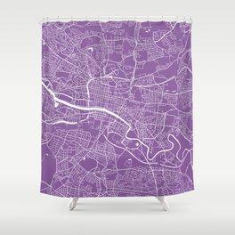 Glasgow map lilac Shower Curtain