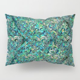 Persian Oriental pattern abalone and silver Pillow Sham