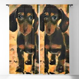 Making Puppy Eyes at You Blackout Curtain