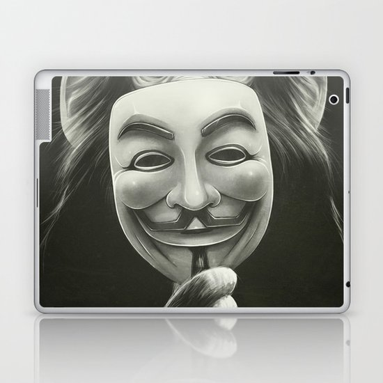 Anonymous Laptop & iPad Skin