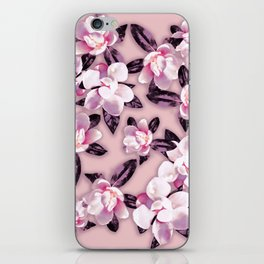 Sweet Mauve Magnolias iPhone Skin