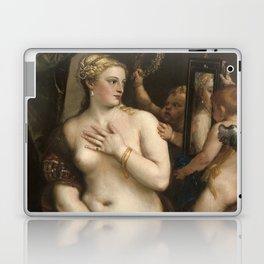 "Titian Venetian,Fine ART,""Venus with a Mirror"",anno1555, oil on canvaSWall Art Laptop & iPad Skin"