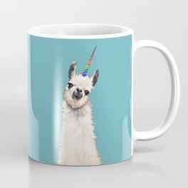 Unicorn Llama Blue Coffee Mug