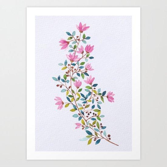 flowers 477 Art Print