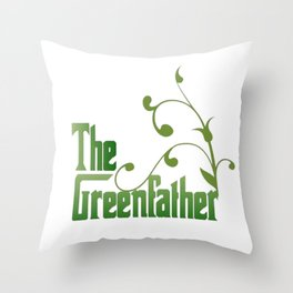 The Greenfather An Earthday Parody Throw Pillow