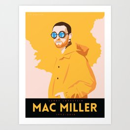 Larry Lovestein (Mac Miller) Art Print