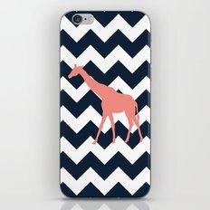 Giraffe on Chevron Background iPhone & iPod Skin