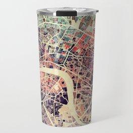 London Mosaic Map #1 Travel Mug