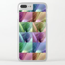 Banana Leaves Quilt Clear iPhone Case