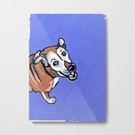 Happy Marvelous Mystery Mutt Dog Portrait Metal Print